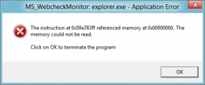 Windows nullptr dereference